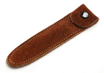 アキュモード鍼灸院の刺さない鍼、ていしん・テイシン・鍉鍼皮革ケース(茶色)