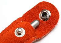 アキュモード鍼灸院の刺さない鍼、ていしん・テイシン・鍉鍼皮革ケース(オレンジ)